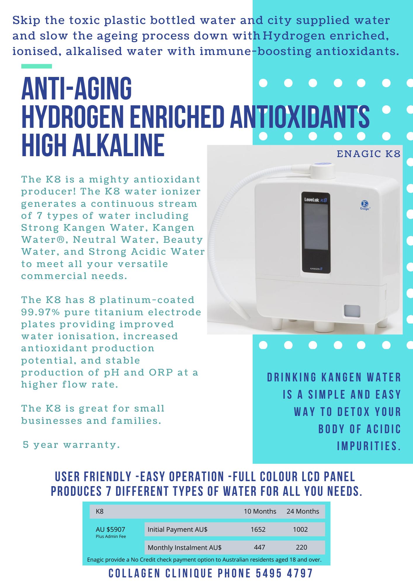 Enagic Kangen 8 K8, Kangen water machine, Water filte,r alkaline water, ionised water